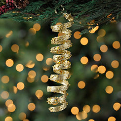 Gold Spiral Ornament