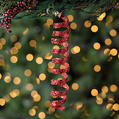 Red Spiral Ornament