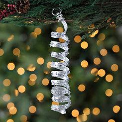 Silver Spiral Ornament