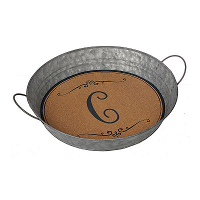 Metal and Cork Monogram C Tray