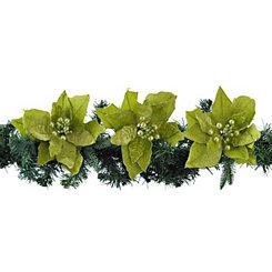 Green Velvet Poinsettias
