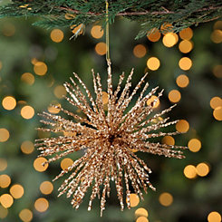 Glitter Copper Burst Ornament
