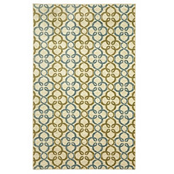 Pasadena Blue and Green Area Rug, 8x10