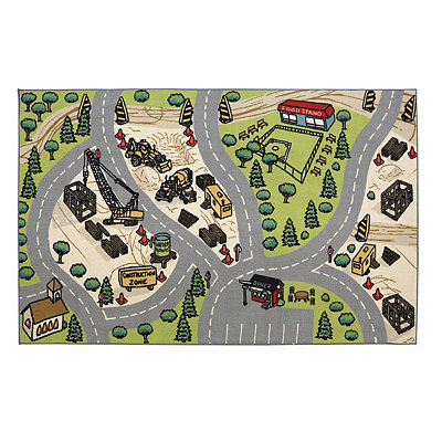 Building Site Area Rug, 5x8