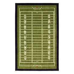 Football Field Area Rug, 5x8
