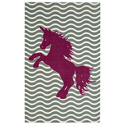 Majestic Unicorn Area Rug, 5x8