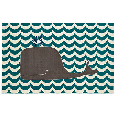 Oh Whale Area Rug, 5x8