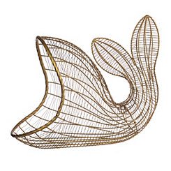 Golden Whale Wire Basket