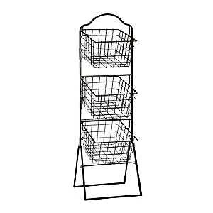Bronze 3-Tier Metal Basket Tower