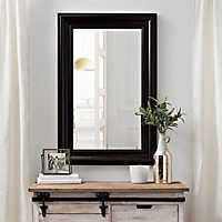 Bronzed Beaded Framed Wall Mirror