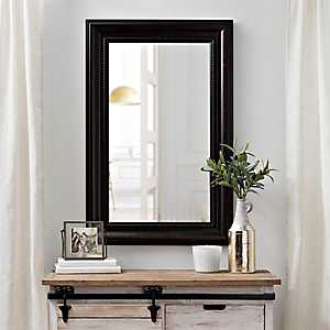 Bronzed Beaded Framed Wall Mirror