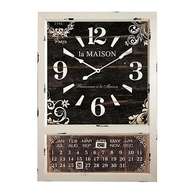 La Maison Cream Calendar Clock
