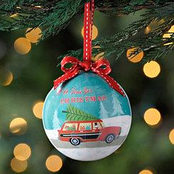 Turquoise Vintage Car Ornament