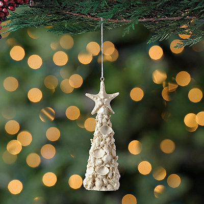 Seashell Christmas Tree Ornament