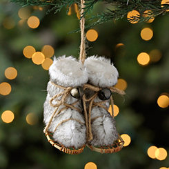 Fur Ski Shoes Ornament