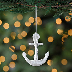 White Anchor Ornament