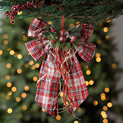 Plaid Bow Ornament