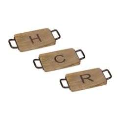 Wood and Iron Monogram Cheese Boards