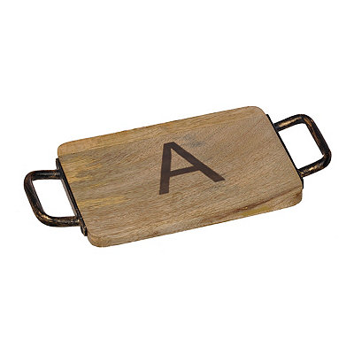 Wood and Iron Monogram A Cheese Board