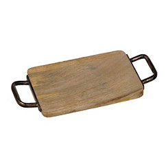 Wood and Iron Cheese Board