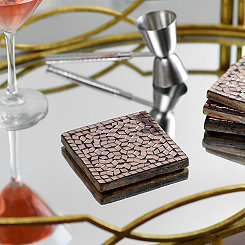 Copper Mosaic Coasters, Set of 4