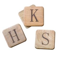 Stamped Monogram Coasters