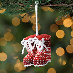 Fair Isle Winter Boot Ornament