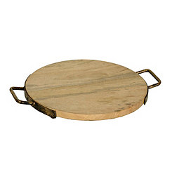Wood and Iron Cheese Tray