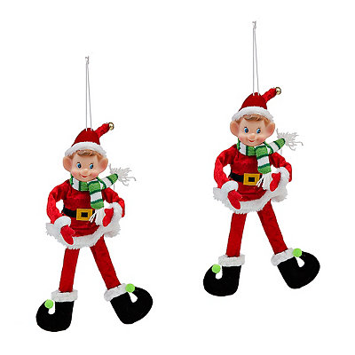 Red Santa Suit Elf Ornament
