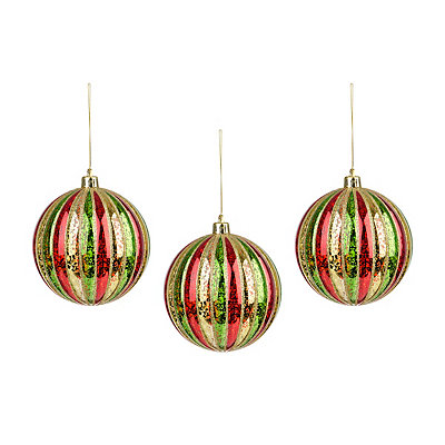 Gold Striped Ornament