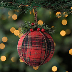 Red Plaid Ornament