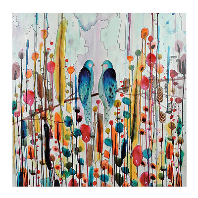 Love Birds Canvas Art Print
