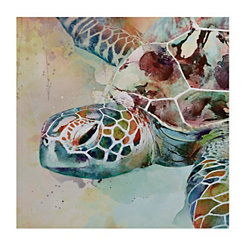 Sea Turtle Watercolor Canvas Art Print