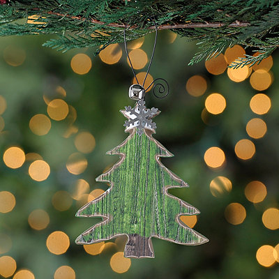 Weathered Christmas Tree Ornament