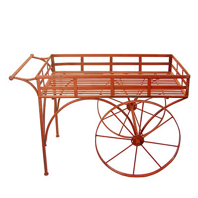 Red Metal Garden Cart