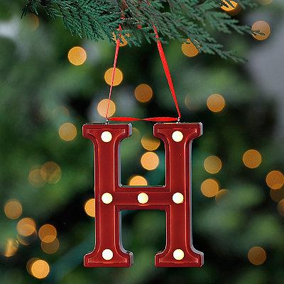 Red Pre-Lit Monogram H Ornament