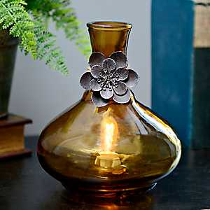 Amber Vase Night Light