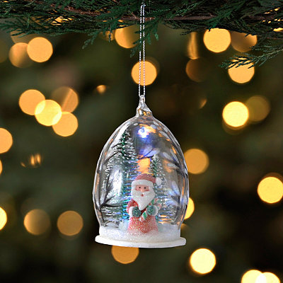 Smiling Santa Cloche Ornament