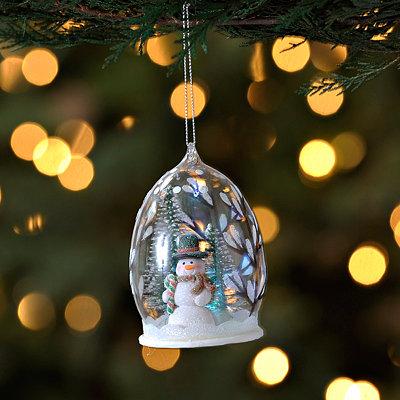 Smiling Snowman Cloche Ornament