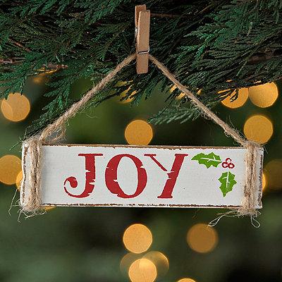 Weathered Joy Sign Ornament