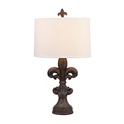 Traditional Bronze Fleur-de-lis Table Lamp