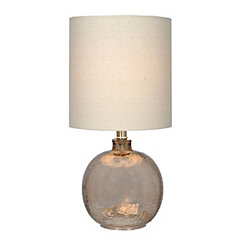 Hammered Amber Mist Glass Table Lamp