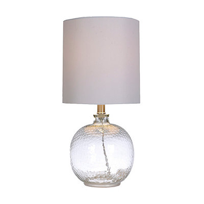 Hammered Clear Glass Table Lamp