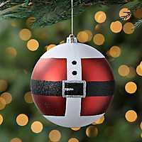 Santa's Coat Glitter Ornament