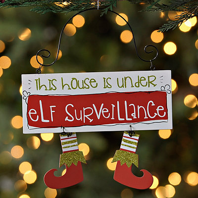 Elf Surveillance Ornament