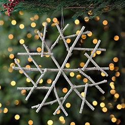Champagne Twig Snowflake Ornament