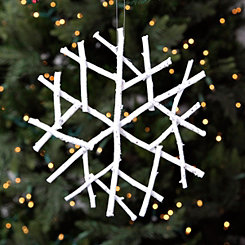 White Twig Snowflake Ornament
