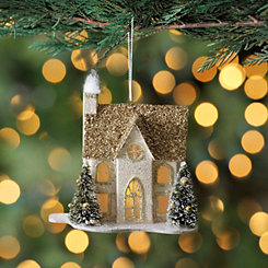 Champagne LED House Ornament