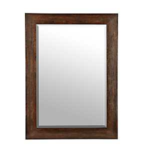 Rustic Paneled Walnut Mirror