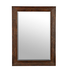 Rustic Paneled Walnut Mirror, 30x42 in.